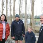 Rangitata MP Jo Luxton, Laurence Rooney, Honer Rooney (7) and Agricultural Minister Damien O...