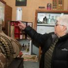 Standing in front of the display Waikawa & Districts Museum volunteer June Leith said she and...