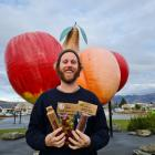 Dre Hart is launching his manuka-smoked olives at the Cromwell Farmers Market. PHOTO: MARJORIE COOK