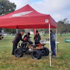 Completing a module demonstrating their knowledge of quad bikes are Blue Mountain College's...