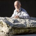 Resting on a slab of South Otago marine limestone encasing approximately 25-million-year-old...