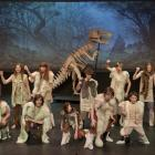 Rehearsing for the opening night of Mayhem at the Museum are some of The Gang Show's 75 cast...