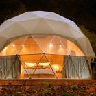 """A premium """"glamping"""" geo-dome. Photos: Stephen Jaquiery"""