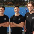 Otago and New Zealand team-mates (from left) Nick Ross, Kane Russell and Blair Tarrant. PHOTOS:...