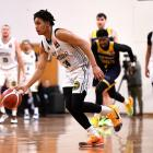 Dontae Russo-Nance drives up court for the Huskies against the Otago Nuggets in Dunedin last...