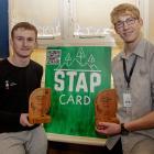 Cashmere High School year 13 students Jayden Rosanowski (left) and Felix Strahl who won regional...