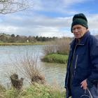 Gore resident Jack McIntyre next to the Mataura River, which separates the water well from the...