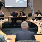 Invercargill city councillors attend a meeting late last year. PHOTO: LUISA GIRAO