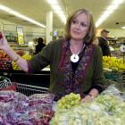 Green Party MP Sue Kedgley in Dunedin's Centre City New World ...