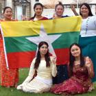 Holding the flag of Myanmar to spread awareness of a fundraising concert in Dunedin later this...