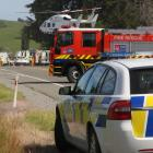 Emergency services at the Moeraki Boulders turn-off after an accident in which a 39-year-old...