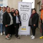 Working together to make Oamaru's vaccine clinic a welcoming environment are (from left) Oamaru...