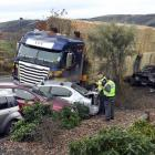 Truck driver Michael Wardell may be facing an ''enormous'' bill over a Momona crash last month....