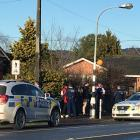 Police in Milton this morning. Photo: Supplied