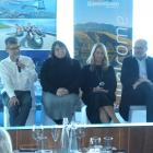 Taking part in a panel discussion at a business lunch in Queenstown yesterday are (from left)...