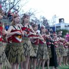 Arrowtown School's kapa haka group braved bitter temperatures yesterday afternoon to perform at...