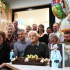Eric Soper celebrates his 100th birthday on Saturday alongside family. PHOTO: LAURA SMITH