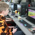 Enjoying playing a multiplayer game during the Invercargill Gaming Event held at ILT Stadium on...