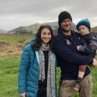 The McNabs, of Lochindorb farm near Owaka, (from left) Jade, Lyndon and Hollis (4), have been...