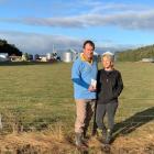 Grain Grower of the Year award winners Morgan and Karen Horrell inspect a winter wheat crop on...
