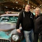 Car and caravan . . . Dunedin couple Kevin Patrick and Tanya Eastlake with their '55 Chevy at the...