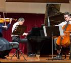 Chamber music trio Eccentrioties, (from left) Skyla Murray (15, violin), Alexander Sun (15, piano...