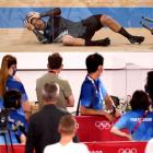 Aaron Gage after crashing out of the bronze medal final. Photo: Reuters
