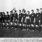 Winners, (from left) C.G. Aitken (captain), H.E. Nicholls, C. Badley, W. Duncan, P. Storey, J....
