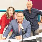 Hosts of MediaWorks' AM Show Amanda Gillies, Duncan Garner and Mark Richardson. PHOTO: NZ HERALD