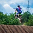 Courtney Duncan in action during the second round of the world motocross championship in Belgium...