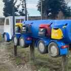 Tanker and truck (pictured below) letterboxes designed and made by Kevin Jackson. PHOTOS: SUPPLIED