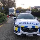 Police at the scene in Fendalton yesterday. Photo: NZ Herald