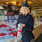 Reusable Christmas cracker distributer Emma Conyngham loves working from home in Wanaka. PHOTO:...