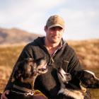 Ben Maxwell with some of his dogs. Mr Maxwell has traded Invercargill for farming in the Lindis...