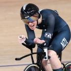 Nicole Murray,competes for the bronze medal in the track cycling Women's C5 3000m individual...