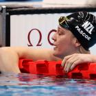 Sophie Pascoe after placing third in the backstroke final tonight, Photo: Getty Images