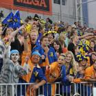 Highlanders fans party in the Zoo in Forsyth Barr Stadium in 2012. The Zoo has become an annual...