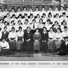 Students and teachers in the University of Otago home science department for 1921. — Otago...