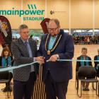 North Canterbury Sport and Recreation Trust chairperson Don Robertson (left) and Waimakariri...
