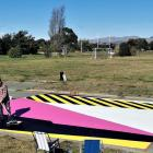 New Brighton artist Nathan Ingram has painted a mural in the former red zone that complements...