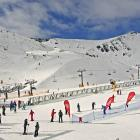 The Remarkables were looking busy for a midweek outside of school holidays. Photo: Supplied