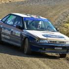Invercargill drivers Mark McMillan and Murray Wright compete in their Subaru Legacy RS in last...