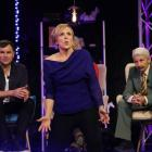 Hilary Barry miming on Give Us a Clue. Photo: Supplied