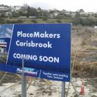 A Burns St billboard promises a new PlaceMakers store will be coming to the site of the former...