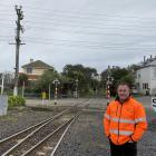 KiwiRail Dunedin freight operations manager Jamie McFarland stands at the Wickliffe Tce rail...