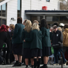 Mourners gather to farewell Andrew Goodger at Life Church in Timaru this afternoon. Photo: NZ Herald