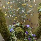 A floral installation from the delayed 2021 Chelsea Flower Show. Photos: Reuters