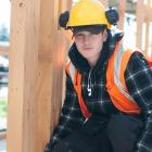 Construction student Connor Campbell (17) is one of six students building the Otago Polytechnic...