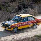 Scott Paul drives his Ford Escort in the Central Otago Motorsport Club's championship event the...