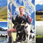 (Main image) Anna Munro with dogs Gus and Rizzo on the Lake Heron Station autumn muster;...